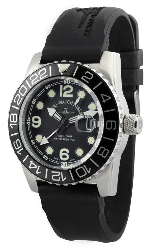 Zeno Watch Basel Airplane Diver Gmt Points Dual Time