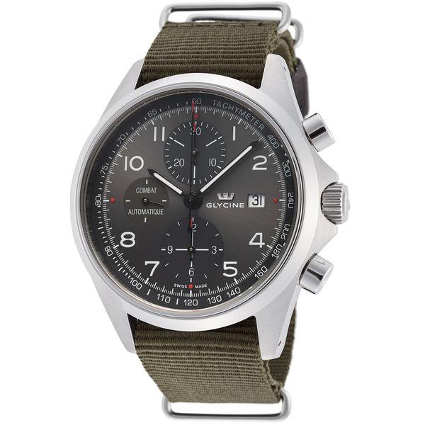 Glycine Combat Ref 3945 10at Tb2 Gl0100 Chronograph Lux